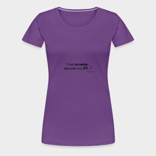 c-le-cache-VECT - T-shirt Premium Femme