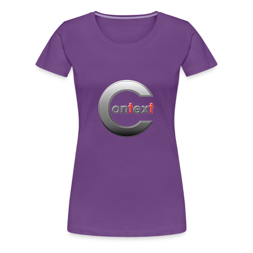 Context silver - Premium-T-shirt dam
