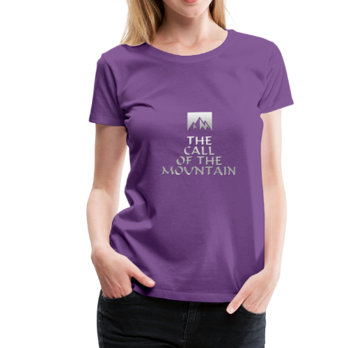 The Call Of The Mountain - silver - Women's Premium T-Shirt
