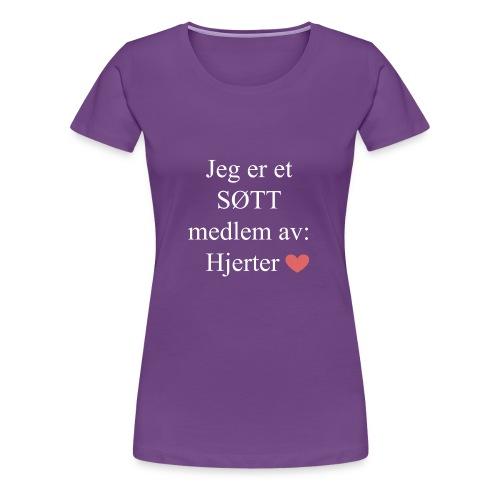 SØTT Medlem - Premium T-skjorte for kvinner