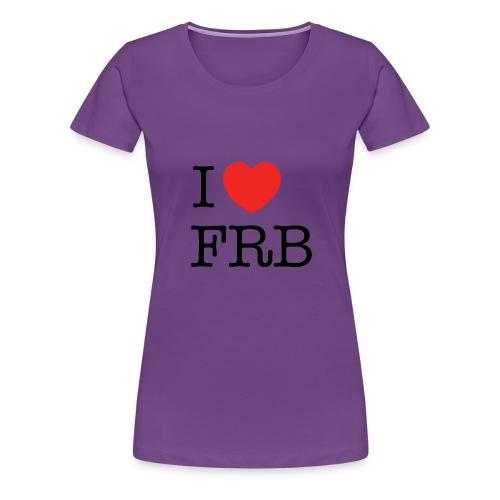 I Love FRB - Workwear - Dame premium T-shirt