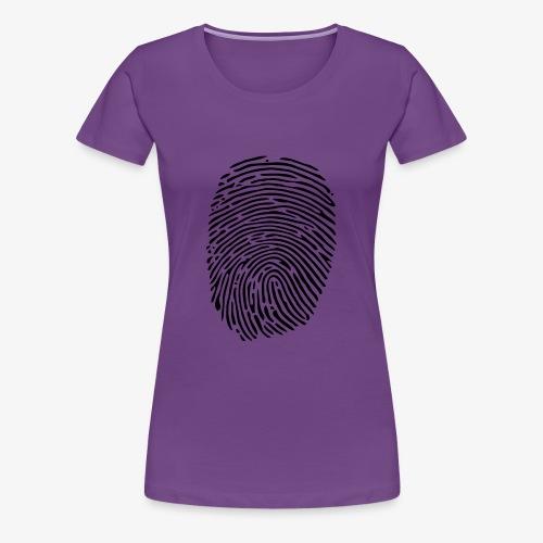 Finger Abdruck - Frauen Premium T-Shirt