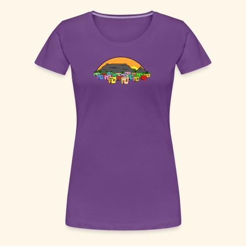 Cape Town Township Background - Frauen Premium T-Shirt