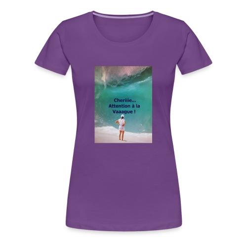 VAGUE D EAU a que la MER est BELLE - T-shirt Premium Femme