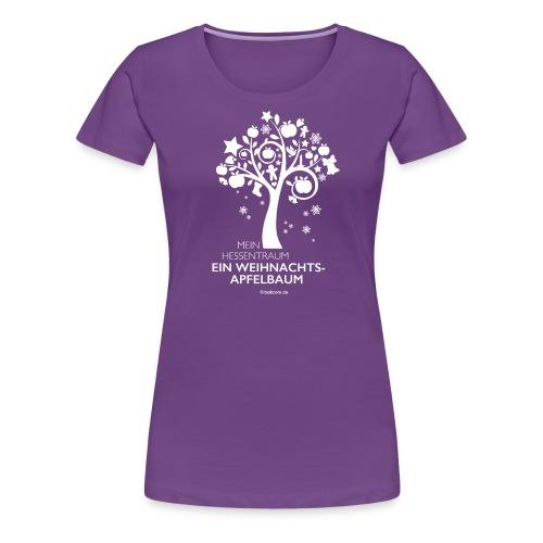 Weihnachtsapfelbaum klassisch, weiß - Frauen Premium T-Shirt
