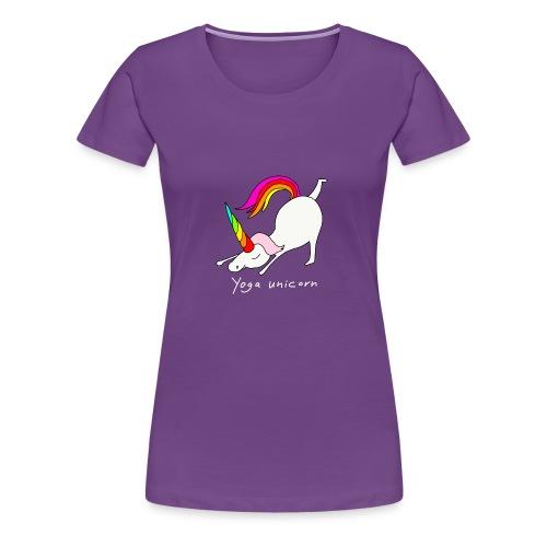 Yoga Einhorn - Frauen Premium T-Shirt