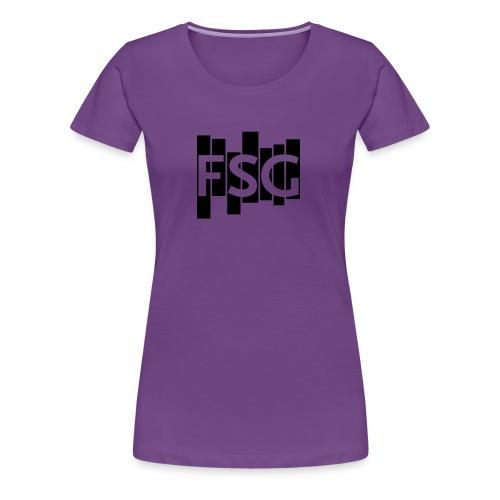 Schwarzes FSG-Logo - Frauen Premium T-Shirt