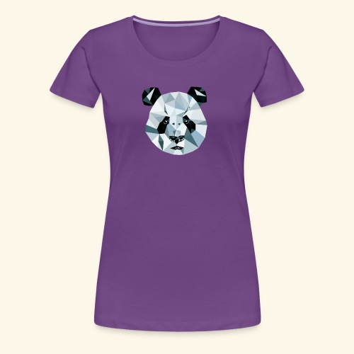Panda Kopf 3D Polygon Comic - Frauen Premium T-Shirt