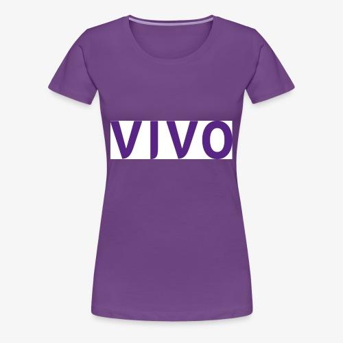 Vivo logotype stor - Premium T-skjorte for kvinner