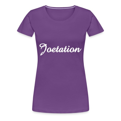 White Text Joetation Signature Brand - Women's Premium T-Shirt