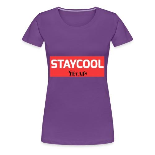 STAYCOOL Aufdruck mit Yetais - Frauen Premium T-Shirt