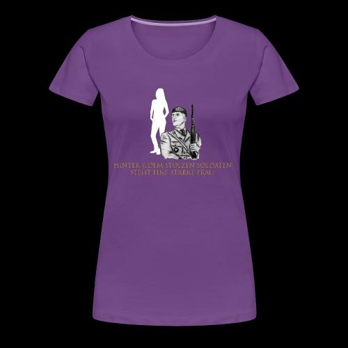 Stolzer Soldat - starke Frau, Einzelversion 6 - Frauen Premium T-Shirt