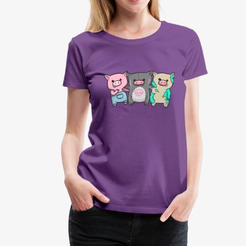 Drei kleine Schweinchen I Geschenkidee - Frauen Premium T-Shirt