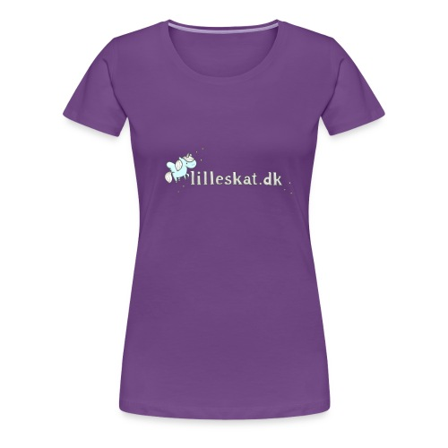 lilleskat_logo_-1- - Dame premium T-shirt