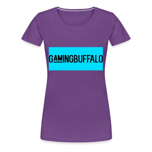 Long Logo BLUE - Women's Premium T-Shirt