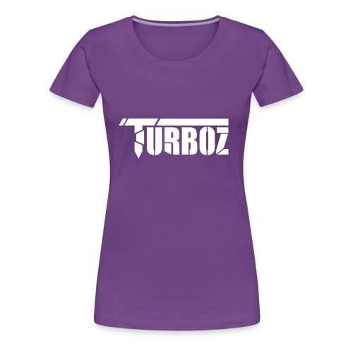 Turboz logo white text - Women's Premium T-Shirt