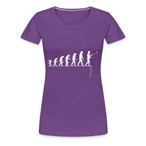 Evolution de l'homme: à trop se regarder...... - T-shirt Premium Femme