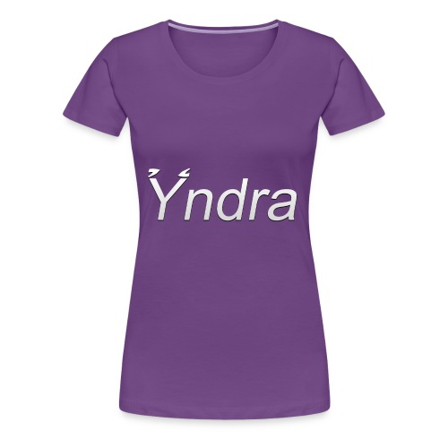 Yndra-Logo´3´-Weiß - Frauen Premium T-Shirt