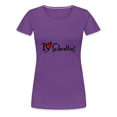 I Love Gibraltar - Women's Premium T-Shirt