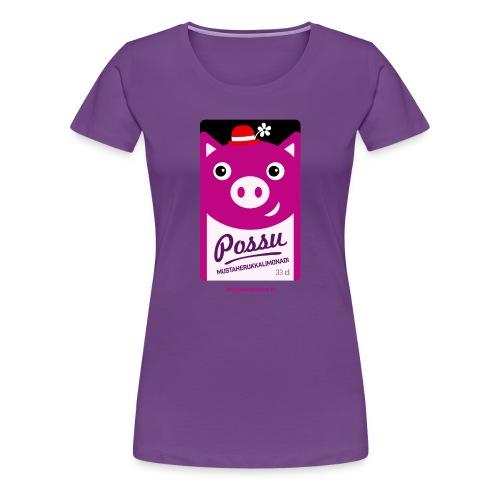 Possu - Naisten premium t-paita