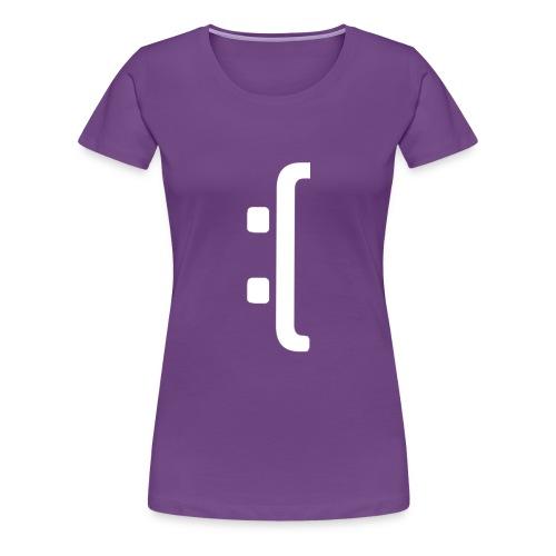 A 'Sad Face' Design :( , Designed by Browney. - Women's Premium T-Shirt