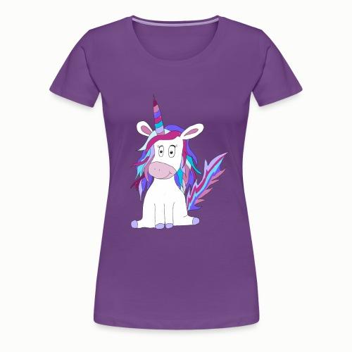 Niedliches Einhorn Geschenk - Frauen Premium T-Shirt