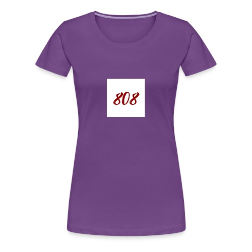 808 red on white box logo - Women's Premium T-Shirt