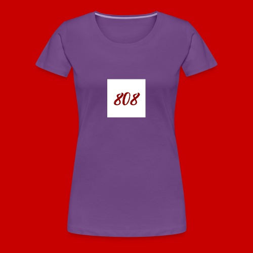 red on white 808 box logo - Women's Premium T-Shirt