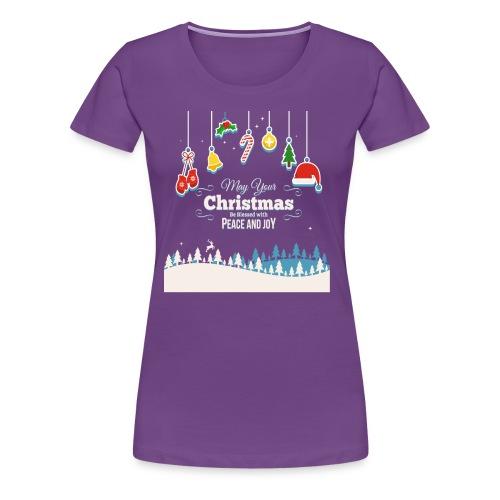 Christmas Peace and Joy - Frauen Premium T-Shirt