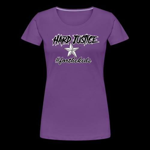 Hard Justice #ftk Black - Women's Premium T-Shirt