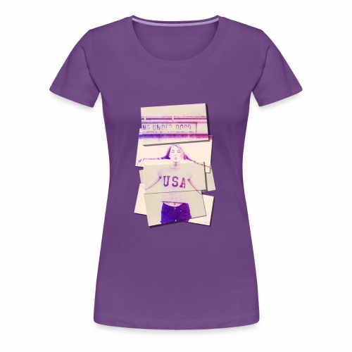 Girl usa - Women's Premium T-Shirt
