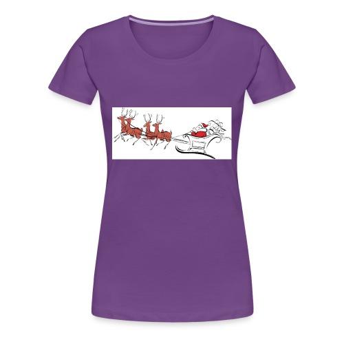 pictures-of-santa-and-reindeer-UDuZhz-clipart - Women's Premium T-Shirt