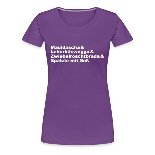 Schwaben-Schlemmer-Teller - Frauen Premium T-Shirt