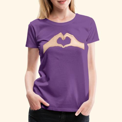 Mains Coeur Amour - Love hands - T-shirt Premium Femme