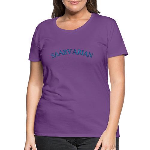 Saarvarian Schriftzug mit getrenntem Bild - Frauen Premium T-Shirt