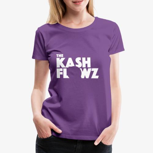 The Kash Flowz Official Logo White - T-shirt Premium Femme
