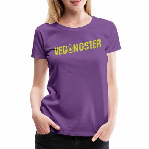 Vegangster Shirt Veganer T-Shirt Geschenk - Frauen Premium T-Shirt