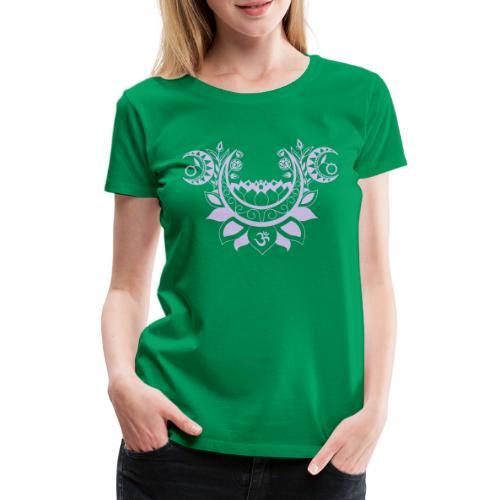 Moonlight Yoga Design Lotus Flower - Frauen Premium T-Shirt