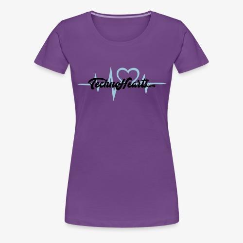 TechnoHearts logotype - Premium-T-shirt dam