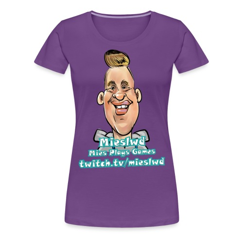 Mies Plays Games - Vrouwen Premium T-shirt