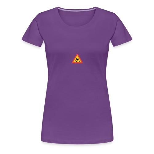 Slirig vägbana - Premium-T-shirt dam