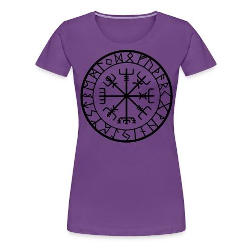viking vegvisir runen - Vrouwen Premium T-shirt