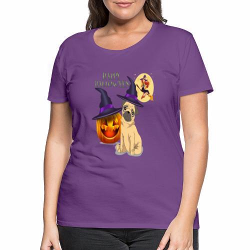 pug halloween - T-shirt Premium Femme