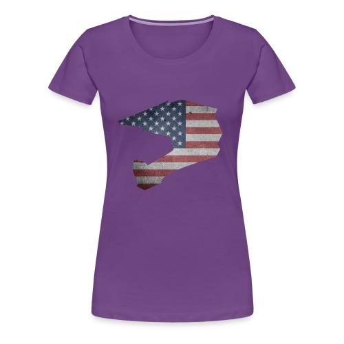 DOWNHILL HELM USA STYLE - Frauen Premium T-Shirt