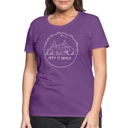 Keep it Simple Cloudy - Frauen Premium T-Shirt