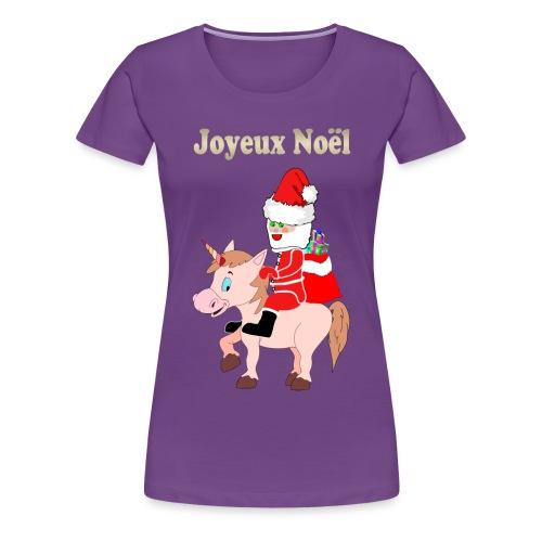 Le père Noël et la licorne - T-shirt Premium Femme