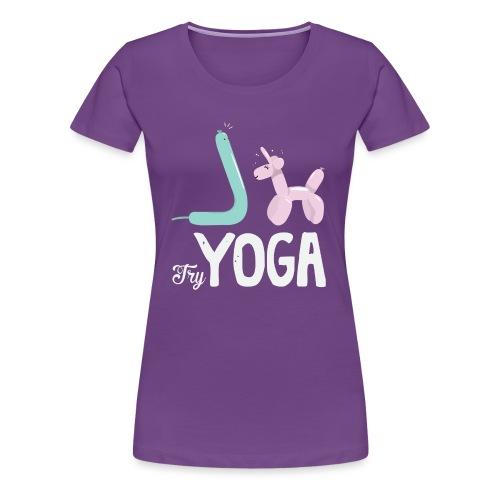 Try Yoga! - T-shirt Premium Femme