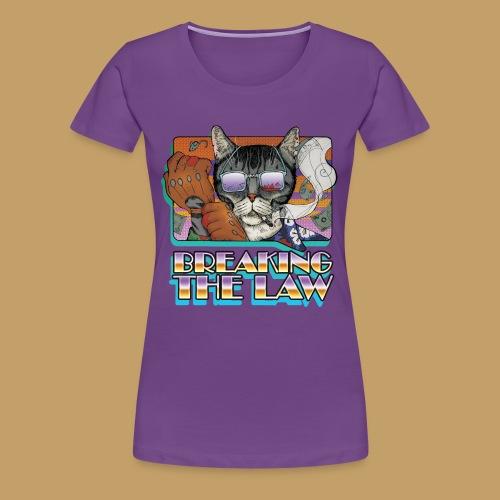 Crime Cat in Shades - Braking the Law - Koszulka damska Premium