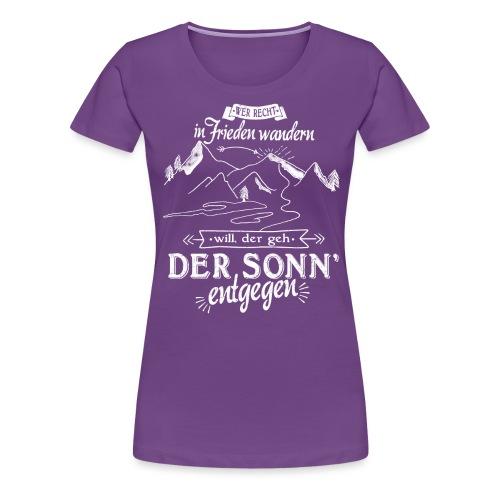 In Frieden wandern - Frauen Premium T-Shirt