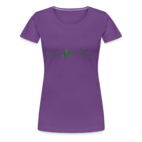 taosurfer_washed_darkgreen - Frauen Premium T-Shirt